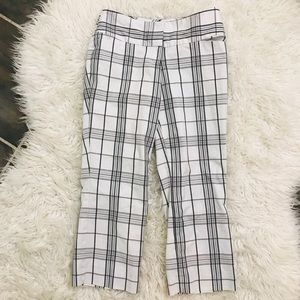 Cropped Express Plaid Pants